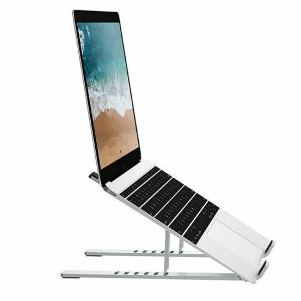 WiWU - Universal Aluminum Laptop stand - 11.6 to 15.6 inch - Silver