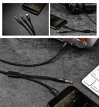 HOCO UPA08 8 Pin 3.5mm Male to Male Aux Adapter Headphone Jack Audio Stereo Cable 1M