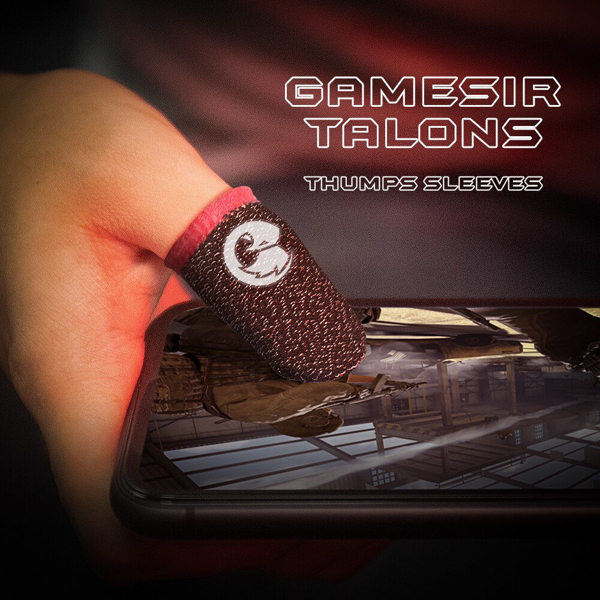 Picture of GameSir Talons Sweatproof Breathable Gaming Finger Gloves 1 Pair of Professional Thumbs Sleeve for PUBG Call of Duty Fortnite