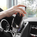 Picture of Hoco Car Fast Wireless Charger with Touch Sensor + Clip Air Outlet + Suction Base