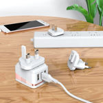 """Picture of Wall charger """"C83 Detachable pin"""" US / EU / UK plugs"""